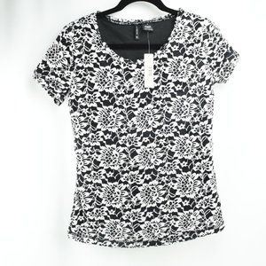 New Directions Women Size M Short Sleeve Blouse